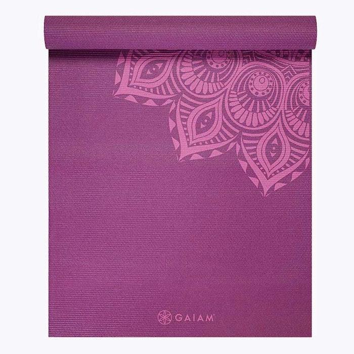 Yogamatta 6mm Purple Mandala - Gaiam
