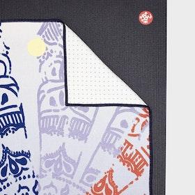 Yogahandduk Yogitoes Chakra Print Blue - Manduka