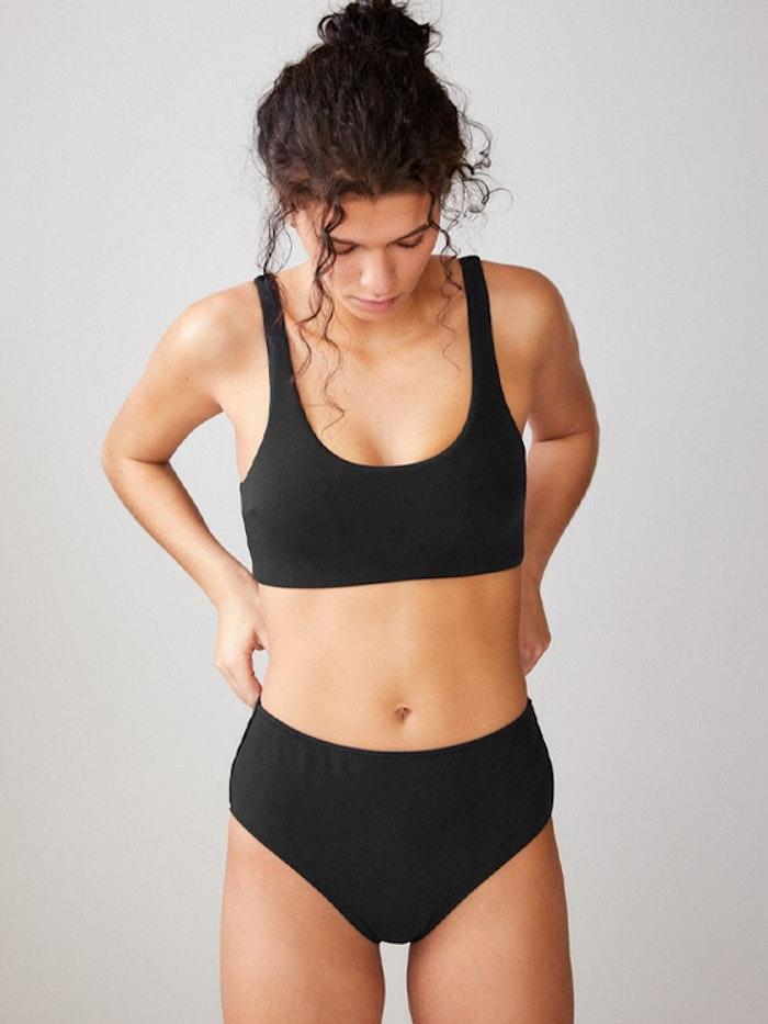 Bikinitopp Sporttopp Black - Movesgood