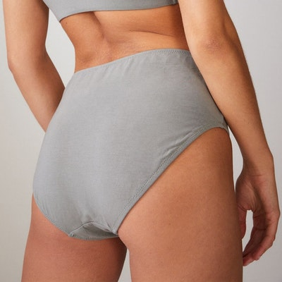 Bikinitrosa Briefs med hög midja Khaki - Movesgood