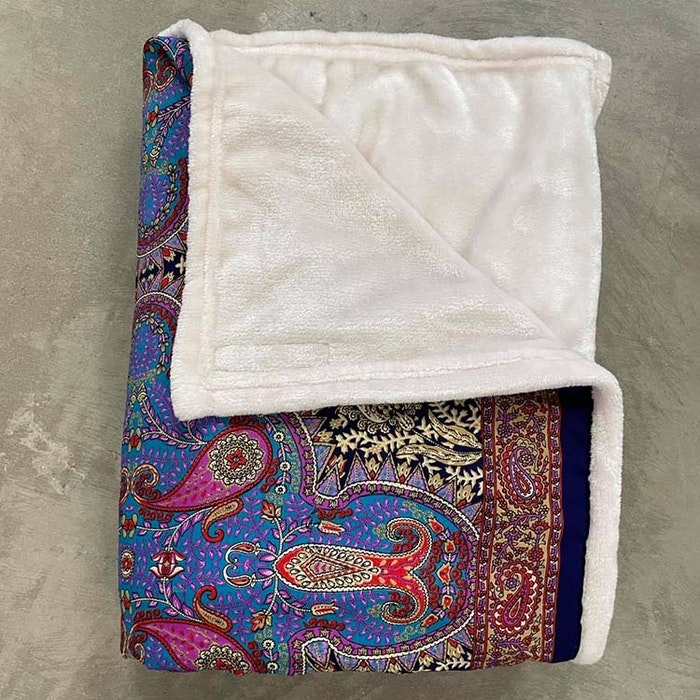 Yogafilt Sari/silke Blue Orient - E-swiss
