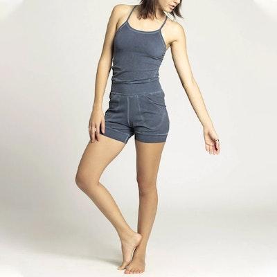 Jumpsuit Short Stone Wash Yoga Navy - Ripple Yogawear