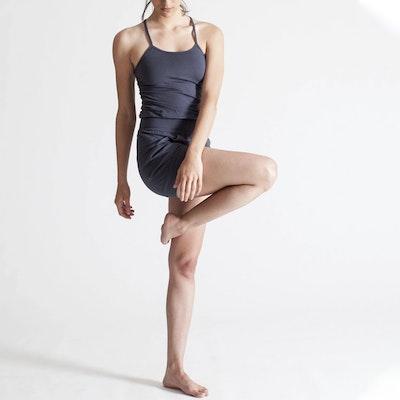 Jumpsuit Short Yoga Steel - Ripple Yogawear