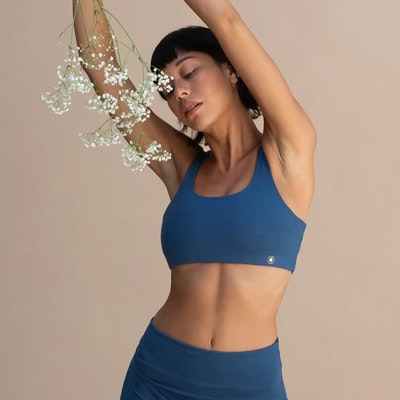 Yoga-BH Boxy crop top Azure - Indigo Luna