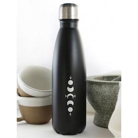 Vattenflaska MY Bottle Black Silver 0,50 L - Moonchild Yoga Wear