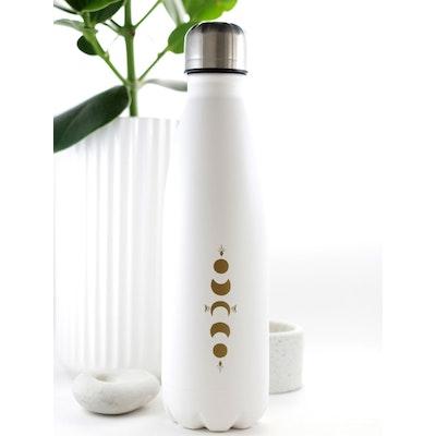 Vattenflaska MY Bottle White Gold 0,50 L - Moonchild Yoga Wear