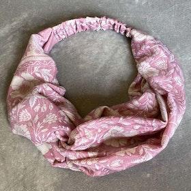 Hårband Lupine Stl XL Rosa/ Creme Nr 126 - Sissel Edelbo