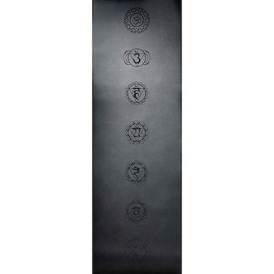 Yogamatta Chakra Black 183x61 cm 4 mm + Yogaväska - Vackraliv Yoga