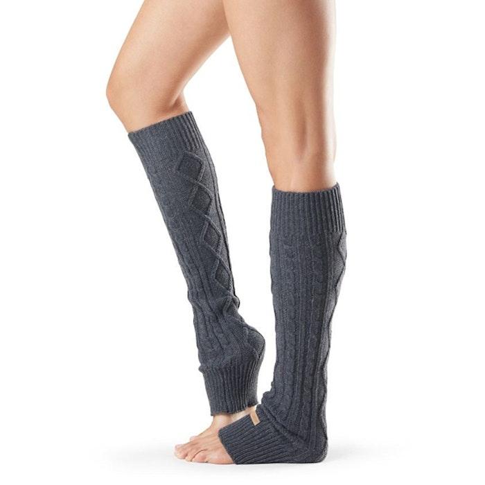 Benvärmare Knee High Charcoal - ToeSox