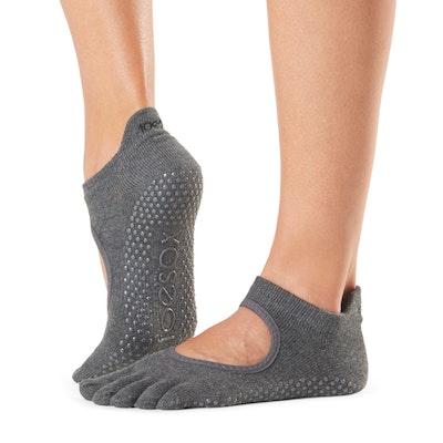 Yogastrumpor Fulltoe Bellarina Grip Charcoal - Toesox