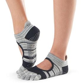 Yogastrumpor Fulltoe Bellarina Grip Graphite - Toesox