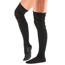 Yogastrumpor Charlie Over-Knee Grip Socks Ebony - Tavi Noir Sox