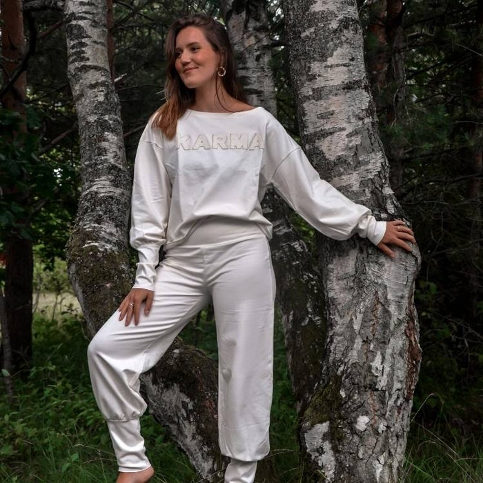 "Tröja Sweater Puff ""Karma"" Ivory - Soul Factory"