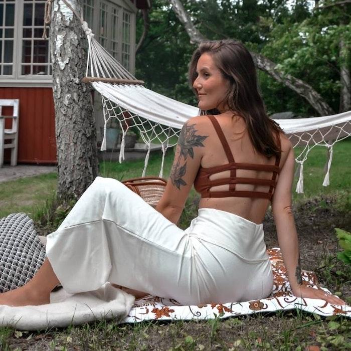 Byxor Wavy Cropped Ivory - Soul Factory