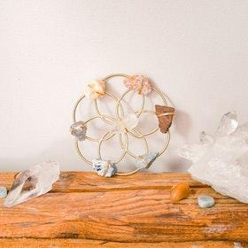 Chakra Balancing grid Flower of Life Gold- Ariana Ost