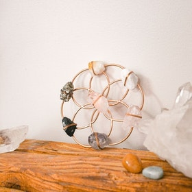 Kristall Healing grid Small Flower of Life Rosé - Ariana Ost