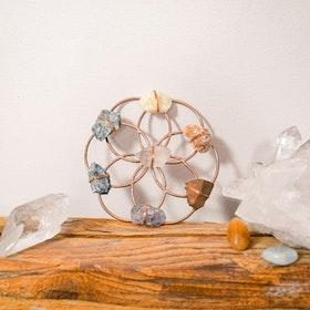 Chakra Balancing Flower of Life Healing grid Rosé- Ariana Ost