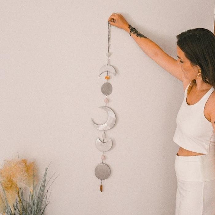 Vägg dekoration  Moon Phase Silver - Ariana Ost