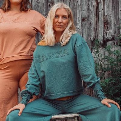 "Tröja Sweater Puff ""Karma"" Balsam Green - Soul Factory"