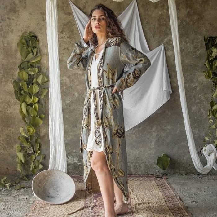"Exklusiv kimono ""Graceful Gray"" - Brahmaki"