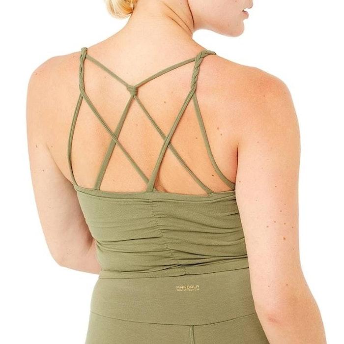 Yogalinne Cable Bra Thyme - Mandala