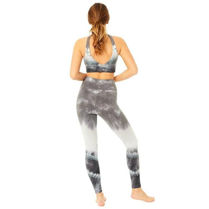 Yogaleggings Batik Grey - Mandala