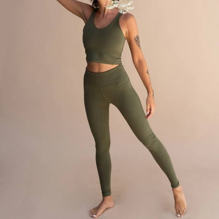 Yogabyxor Ananda leggings Forest - Indigo Luna