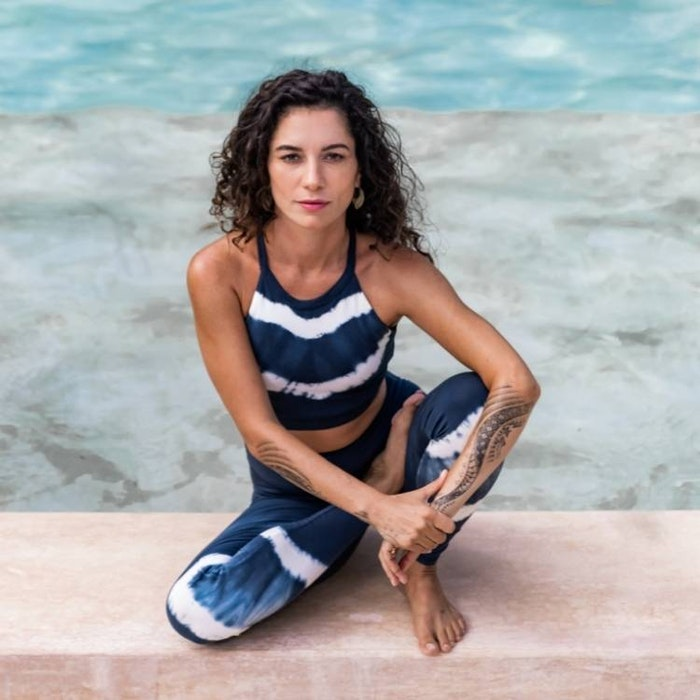 Yoga-BH Halterneck Batik Eclips - Mandala