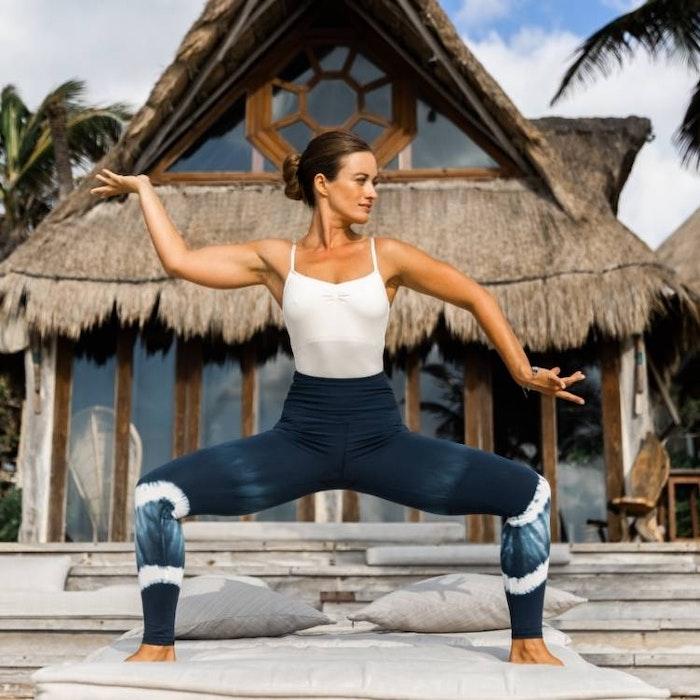 Yogaleggings Batik Eclips - Mandala