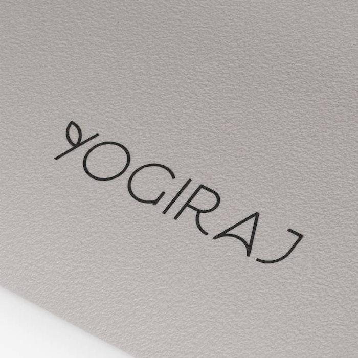 Yogamatta Misty Greige Natural Studio Mat 6mm från YogiRAJ