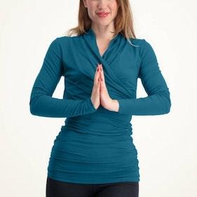 Yogatröja Good Karma Longsleeve Tunic Lagoon - Urban Goddess