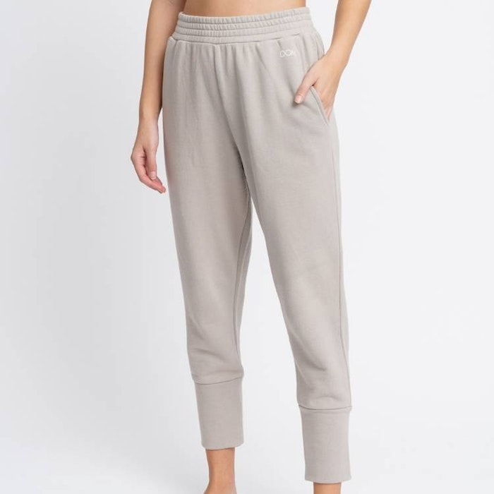 Byxor Annabell Satin Taupe - DOM