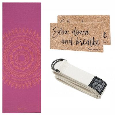 Yoga-Kit Bright Marrakesh & White 6mm