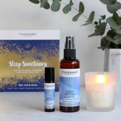 Sleep Sanctuary kit med Olja, Mist & Ljus - Tisserand Aromatherapy