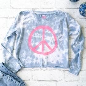 """Långärmad tröja """"Peace"""" - SuperLove Tees"""