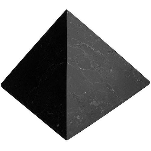 Shungit pyramid opolerad 10 cm
