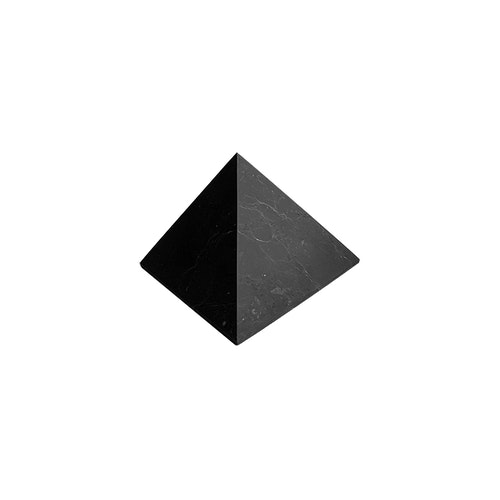 Shungit pyramid Mellan opolerad 5 cm