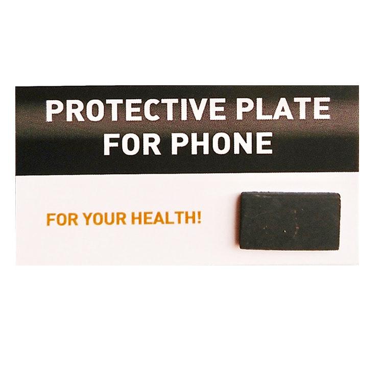 Strålningsskydd för mobil, rektangulär fästbar platta i shungit