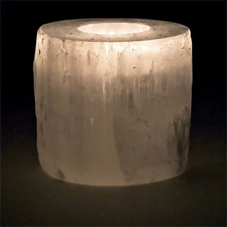 Selenit ljushållare 8 cm