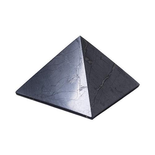 Shungit pyramid polerad 10 cm