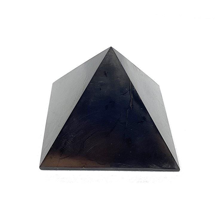 Shungit pyramid Extra stor polerad, 10 cm