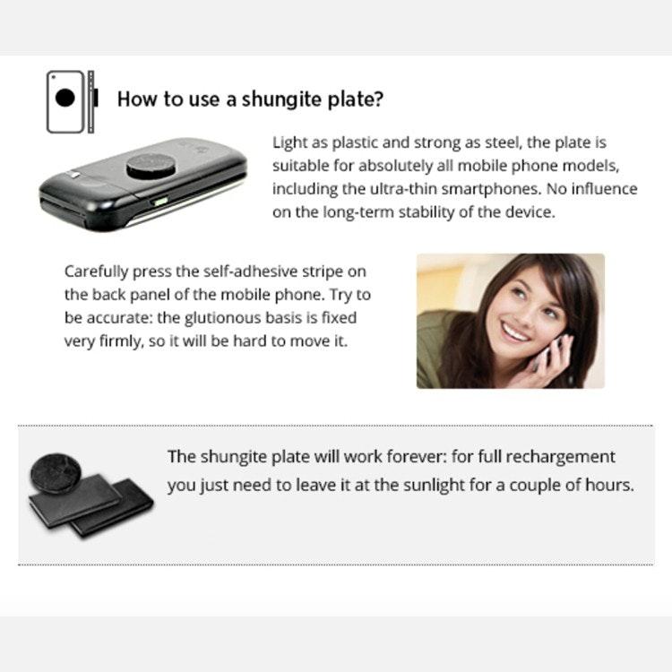 Shungit mobilskydd rektangulär opolerad, 2,5 x 1,5 cm