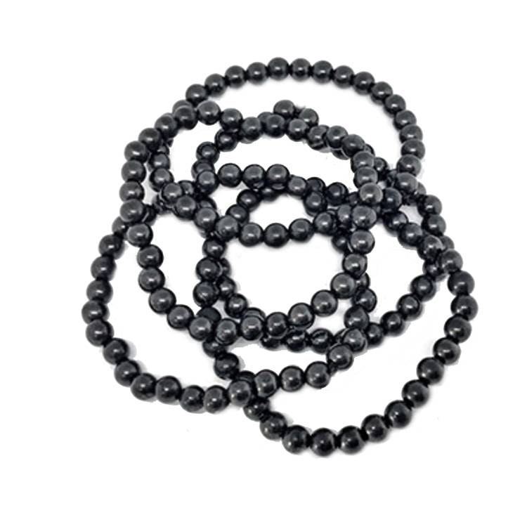 Shungit armband av 6 mm pärlor