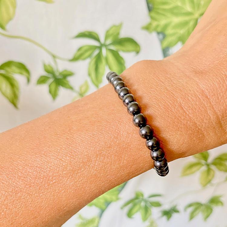 Shungit armband 6 mm pärlor