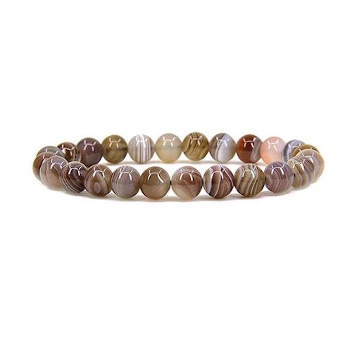 Botswana Agat armband 8 mm pärlor