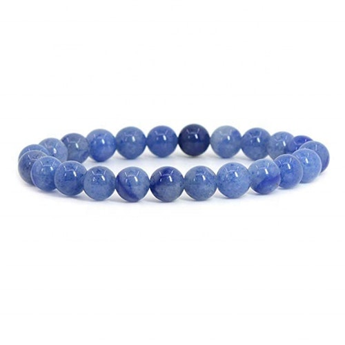 Blå aventurin armband 8 mm pärlor