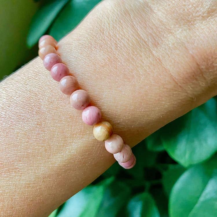 Rodonit armband 6 mm pärlor