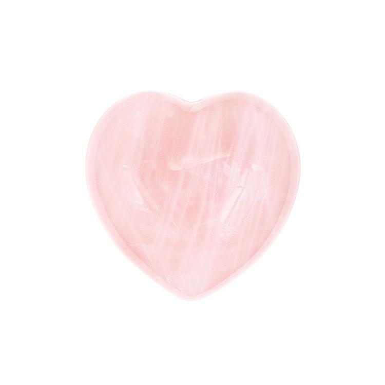 Rosenkvarts hjärta 5 cm
