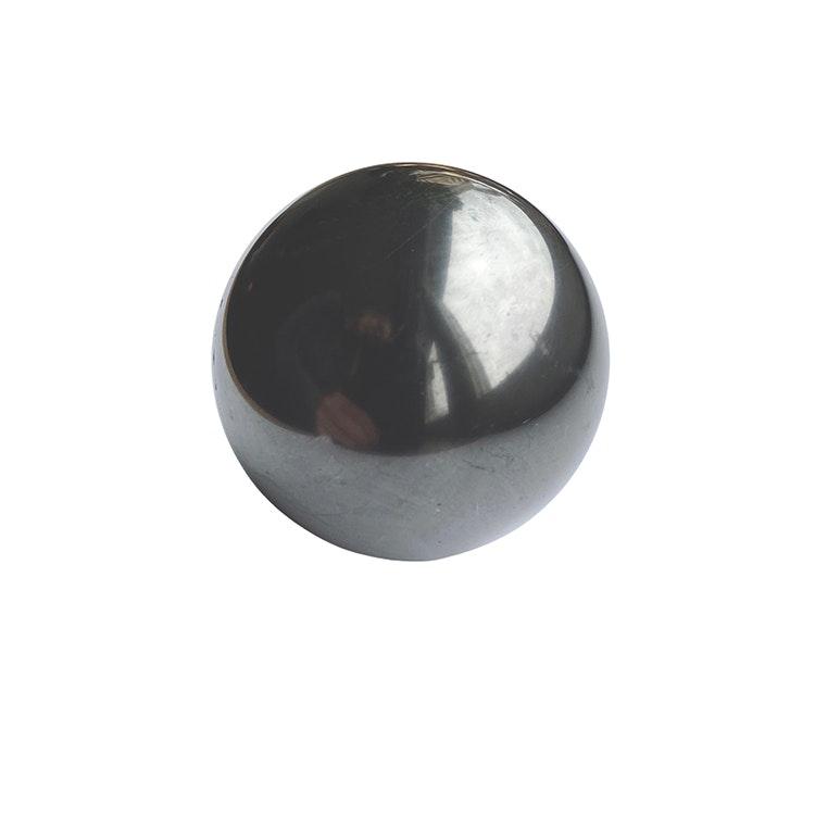 Shungit kula polerad 5 cm med metallställ