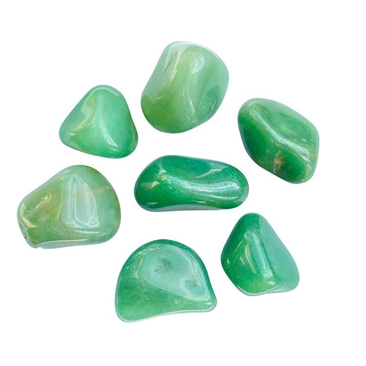 Grön Kvarts A tumlade stenar 250 gr